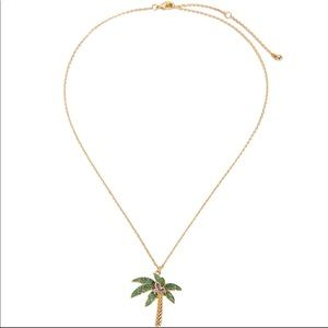 Jewelry - Green Palm Tree Crystal Pendant Necklace